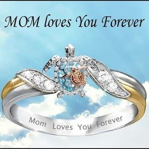 Mom Love you for ever Turtles 🐢 Ring sz 9